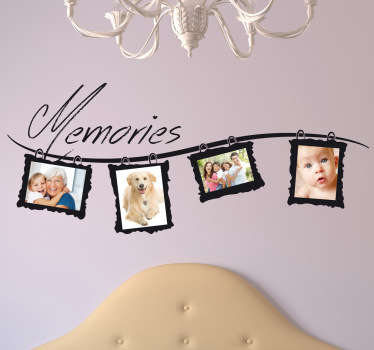 Brilliant frame decal to decorate your home and put up your family pictures! Make all those memories memorable with this great monochrome sticker.