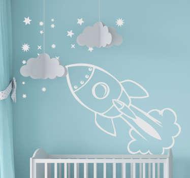 Vinil decorativo infantil nave espacial