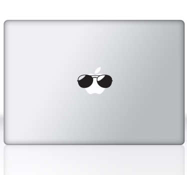 Naklejka na laptop okulary słoneczne