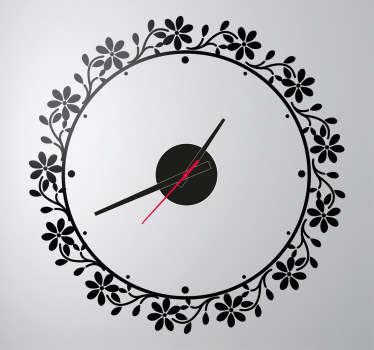 Bloemen cirkel klok sticker
