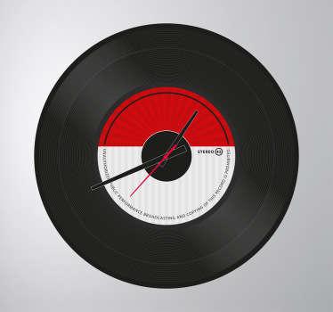 Sticker horloge disque vinyle