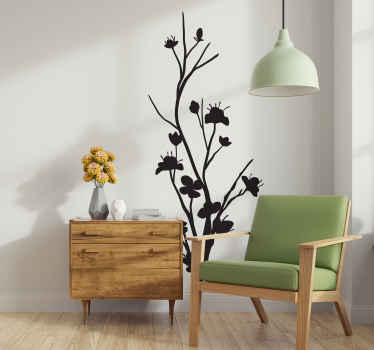 Wall Stickers - Monochrome design of a slim exotic tree. Give an elegant and natural touch to any room with this feature.