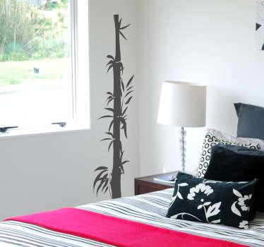 Orientalisches Bambus Wandtattoo