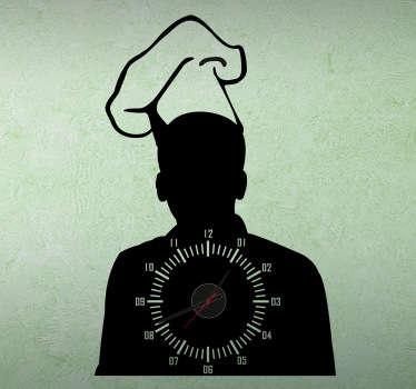 Naklejka zegar szef kuchni