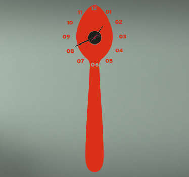 Spoon Clock Sticker