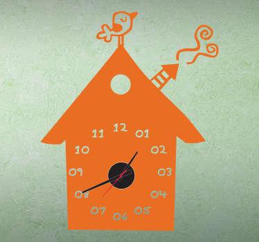 Sticker horloge maison