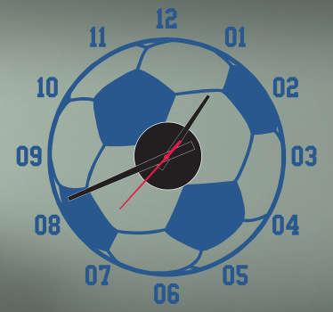Autocolante relógio bola de futebol