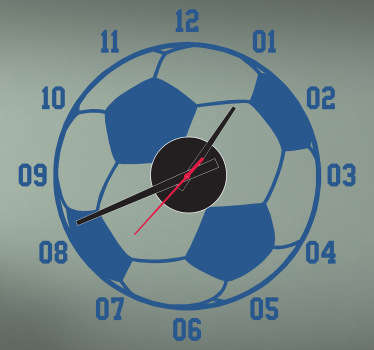 Sticker klok voetbal rondje