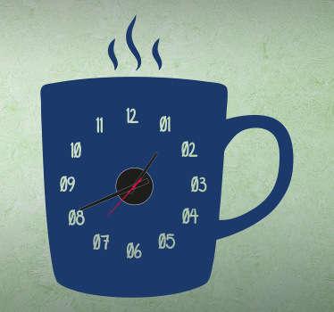 Koffiekop Klok Muursticker