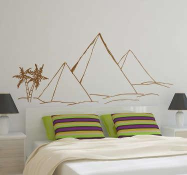 Sticker piramides woestijn