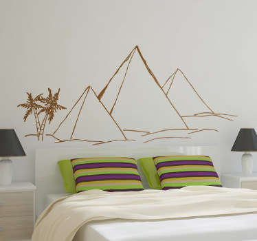 Sticker décoratif pyramides du desert