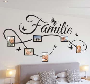 Decoreer de muren van uw huis met deze leuke muursticker en plaats de mooiste foto's van u en uw familie in de fotokaders.