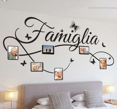 Sticker decorativo foto famiglia IT