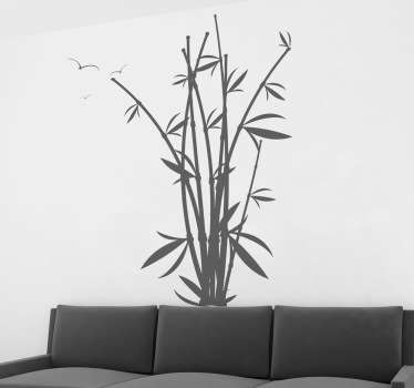 Elegant bamboo wall sticker design perfect to decorate your room with a oriental style inspired by bamboo forests in Asia.