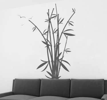 Bamboe plant bladeren sticker