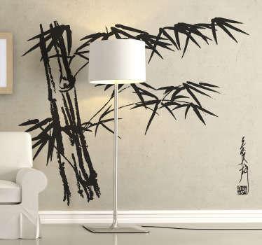 asiatischer Bambus Sticker