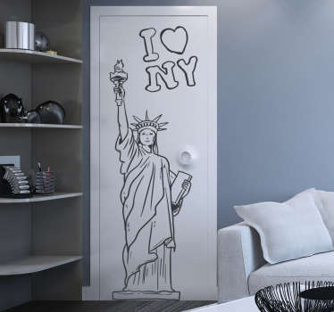 Statue of Liberty Outline Wall Sticker