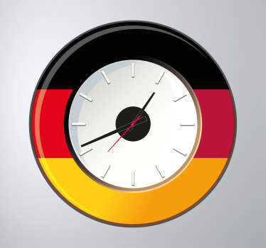 Wall Clocks - German flag wall sticker clock. Original and distinctive, ideal for decorating the home. Perfect for any room
