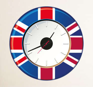 Sticker muurklok Groot Britannië