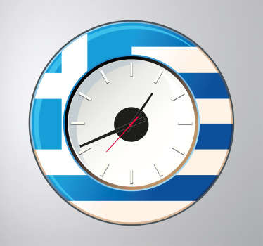 Vinilo reloj pared Grecia