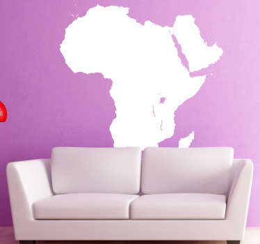 Wall Stickers - Silhouette illustration of the distinctive shape of the African continent. Available in various colours.