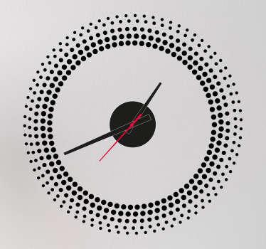 Naklejka zegar malejące kropki