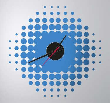 Sticker orologio muro gradazioni rotonde