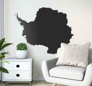 Antarctica Map Silhouette Wall Sticker