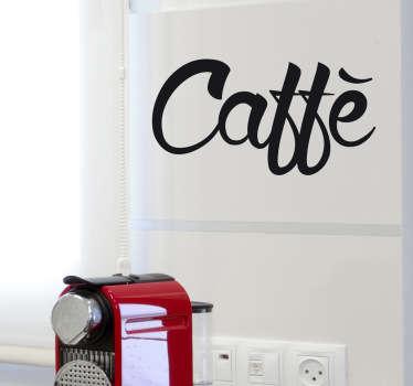 Sticker decorativo logo caffè