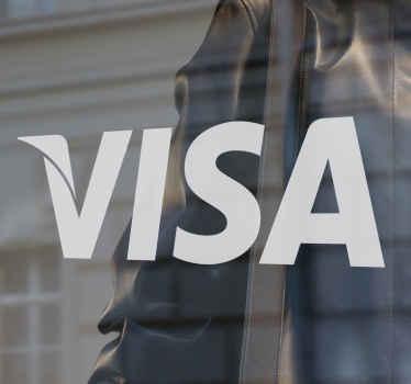 Visa Shop Front Window Sticker