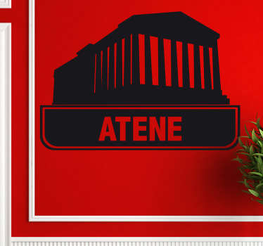 Sticker decorativo logo città Atene