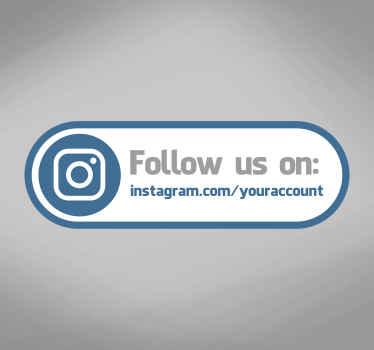 Adhesivo etiqueta tienda instagram inglés