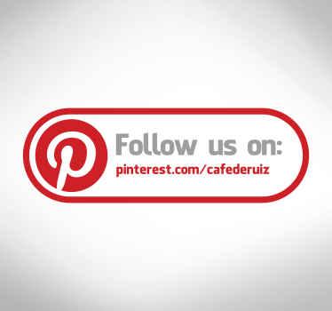 Pinterest Sign Sticker