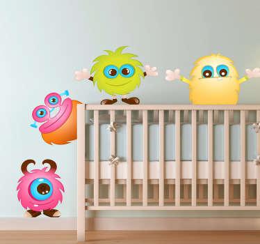Sticker bambini mostriciattoli simpatici
