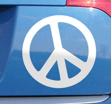 A decorative original sticker of the renowned and universal pacifist icon. You can place this logo sticker on any smooth surface; as a wall sticker, car sticker or laptop sticker.