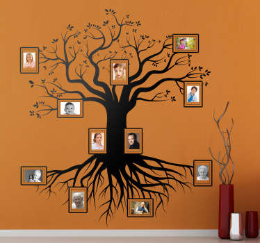 A magnificent family tree to decorate your wall! A superb design from our collection of family wall art stickers that your family will love!