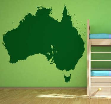 Oceania Map Silhouette Wall Sticker