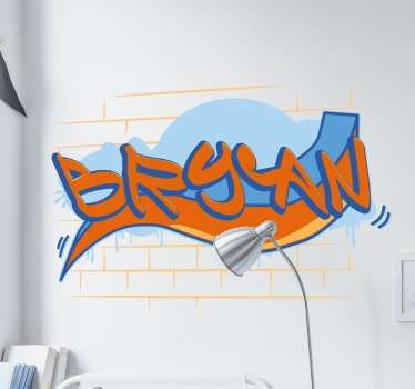 Graffiti name wall stickers - Teens bedroom walls sticker where you can have your name on your wall sprayed in graffiti.