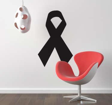 Solidariteit herdenking zwart strik sticker