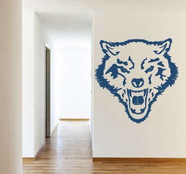 Sticker murale lupo feroce