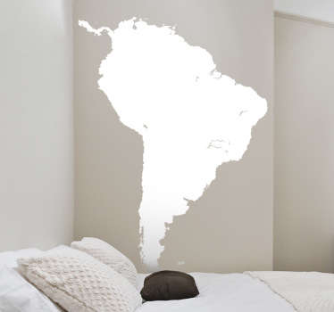 Naklejka kształt mapy Ameryki Południowej
