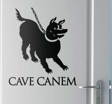 Cave Canem Decal