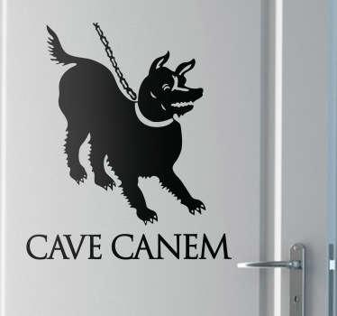 Naklejka dekoracyjna pies cave canem