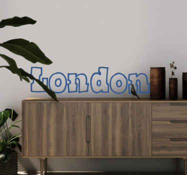 Room Sticker - Typeface design - London, the captial of the United Kingdom, England. Decals ideal for decorating your home.