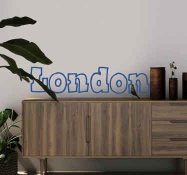 London Schrift Aufkleber
