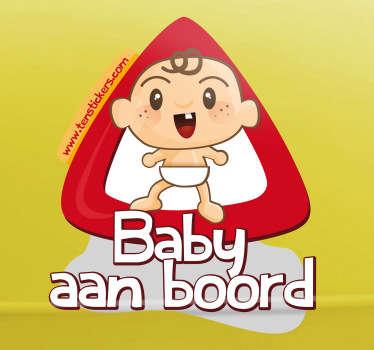 Sticker baby aan boord