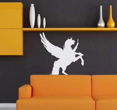 Stencil muro silhouette cavallo alato