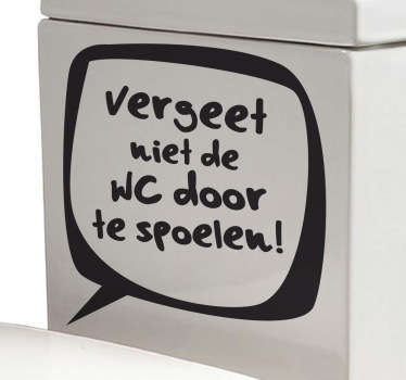 Sticker badkamer WC doorspoelen