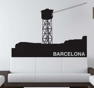 Vinilo decorativo teleférico Barcelona