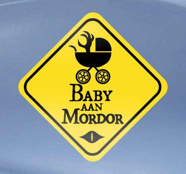 Sticker Auto Baby aan mordor